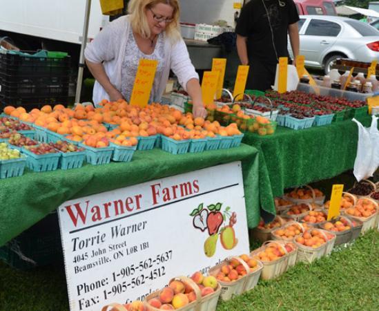Orillia Fairgrounds Farmers' Market: Warners Farms at the Orillia Fairgrounds Farmers' Market.