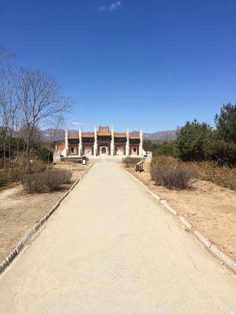 Yi County, China: Western Qing Tombs. March 2016. Beautiful and empty of any tourists.