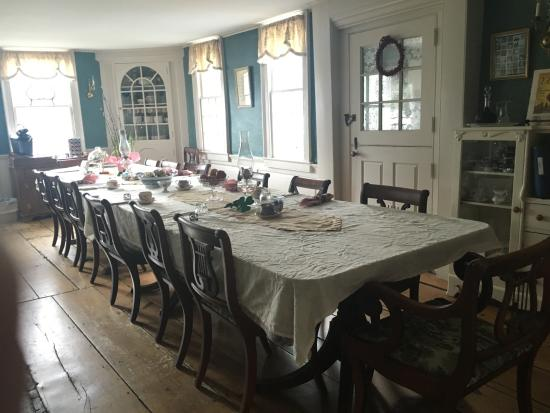 dining room of the house picture of deacon timothy pratt bed rh tripadvisor com