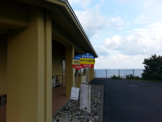 the bus stop is at the door picture of jr hotel yakushima rh tripadvisor com