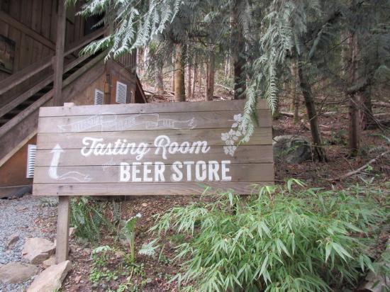 Salt Spring Island Ales: Signage for Tasting Room