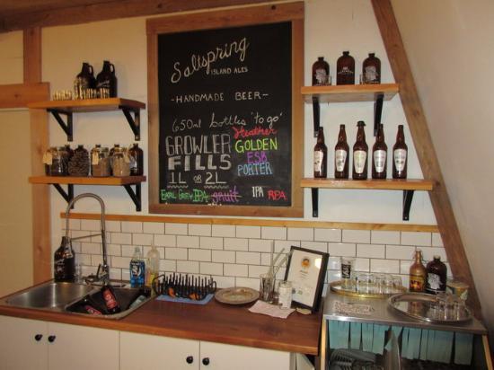 Salt Spring Island Ales: Beers on Tap!