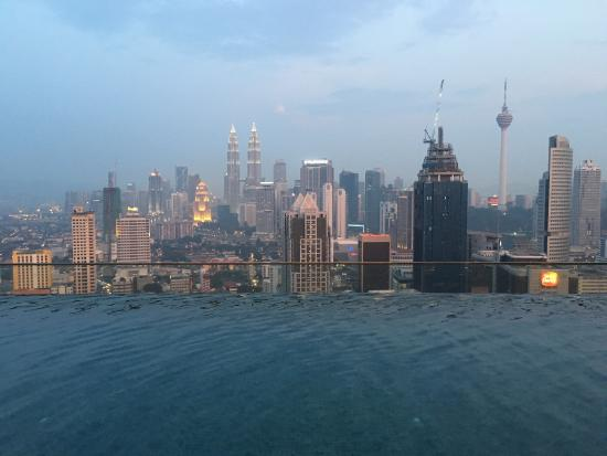 Evening shot at the roof top infinity pool picture of - Rooftop swimming pool kuala lumpur ...