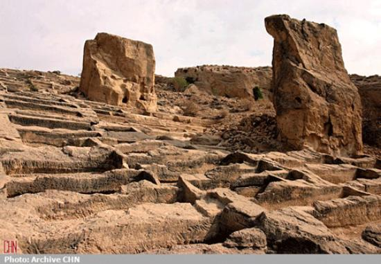 Bushehr, Iran : historical cemetery in siraf. photo: archive CNN