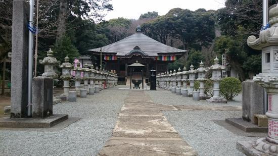 Chokoku-ji Temple: 並ぶ灯籠