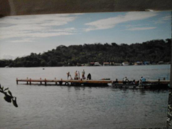 La Guayra, Panama/Panamá: Muelle para abordar los votes