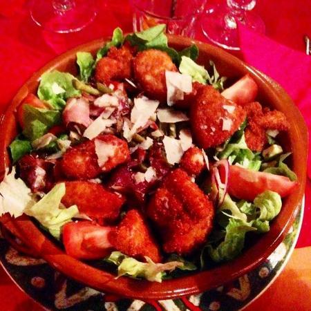 Casa bonita : Salade croustillant de poulet