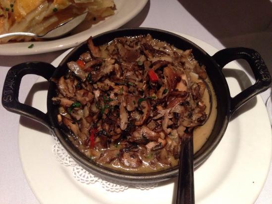 The Chop House : All the food was amazing!  Ah gratin potatoes, sautéed mushrooms, New York strip steak w/strip p