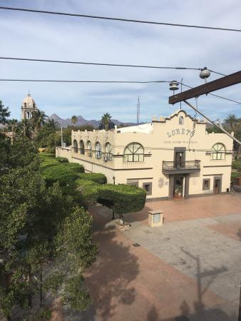 Posada de las Flores Loreto: Vistas desde el desayunador del hotel