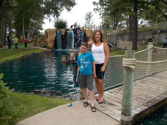 Brainerd, MN: Jayden and Grandma Renee at Pirates Cove