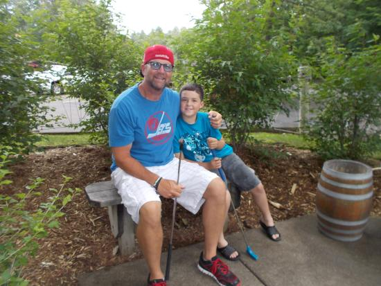 Brainerd, MN: Jayden and Grandpa Dave at Pirates Cove