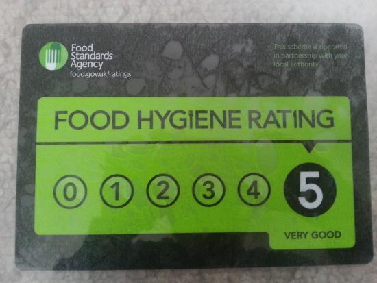 Flintham, UK: Recently awarded our level 5 for food hygiene!