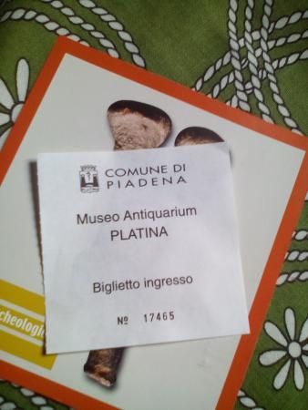 Piadena, Italien: Biglietto ingresso