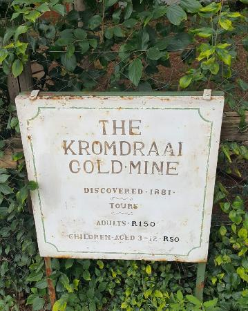 Cradle of Humankind World Heritage Site, Νότια Αφρική: Krondraai gold mine