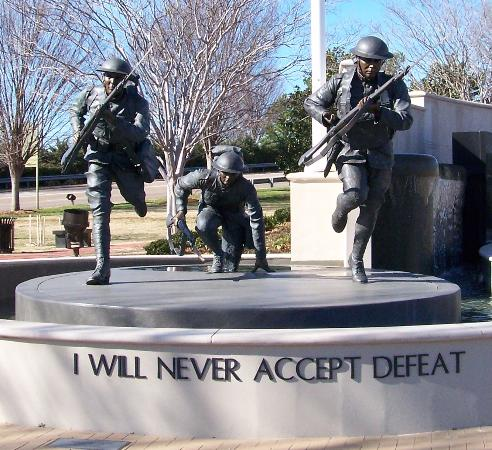 Huntsville, AL: The Madison County Veterans Memorial Park statue 'Courage' by Danial W. Burch