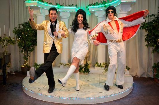 I said a huh picture of a elvis chapel las vegas for Elvis wedding chapel las vegas