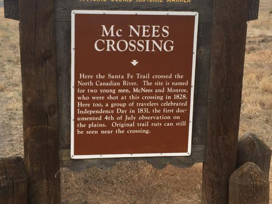 Kenton, OK: McNees Crossing on NM Hwy 406