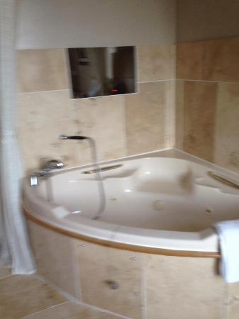 Anvil View Guest House: Jacuzzi bath with tv