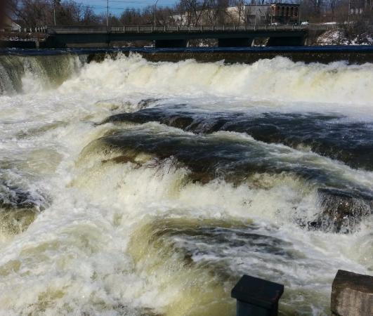 Almonte, Canadá: High water in the early spring