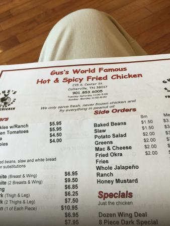 Gus's World Famous Fried Chicken: Ordered the dozen wing deal !