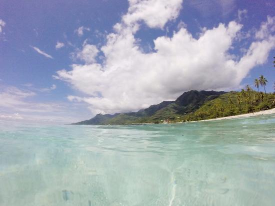 Moorea, Polynésie française : Les petites montagnes de Vaiare et Teavaro