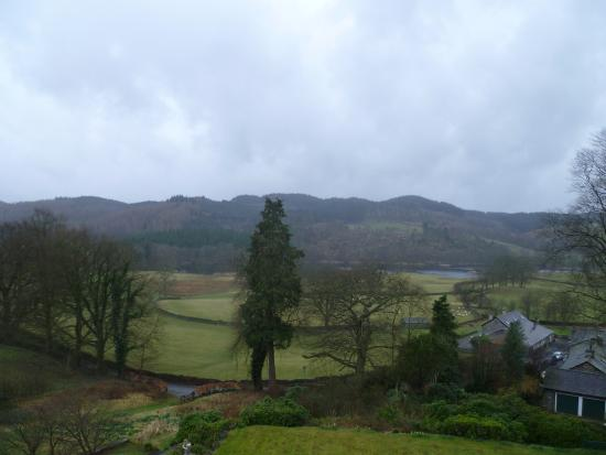 Sawrey, UK: View from Room 9 of Esthwaite and Grizedale Forest