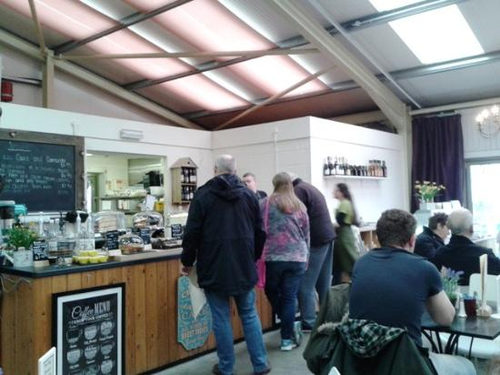 The Potting Shed Cafe: The Potting Shed's inside dining area.