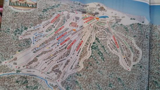 Big Snow Resort : This is a trail map of Indianhead