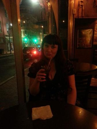 Baja Bean Co.: Me at the Baja Bean Bar, having an unidentified, yet delicious alcoholic beverage.