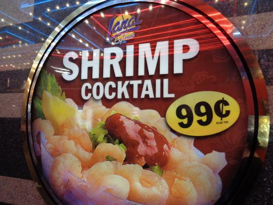 Fremont Street Experience 99 Cent Shrimp Cocktail At The