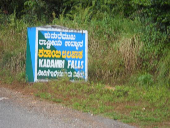 Chikmagalur, India: Sign Board on the road