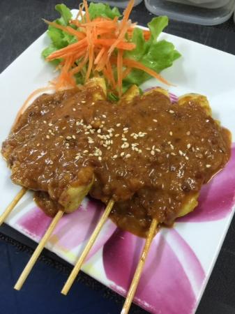 Menu Thai Restaurant : Yummy Chicken satay