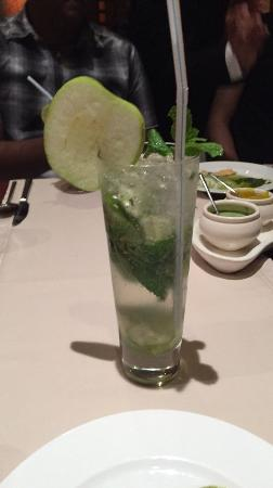 The Indus: A Green Apple Mojito, avaliable with and without alcohol
