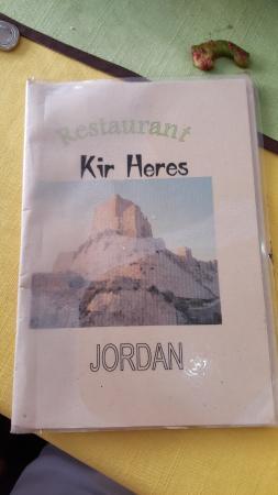 Karak, Jordania: Kir Heres Menu