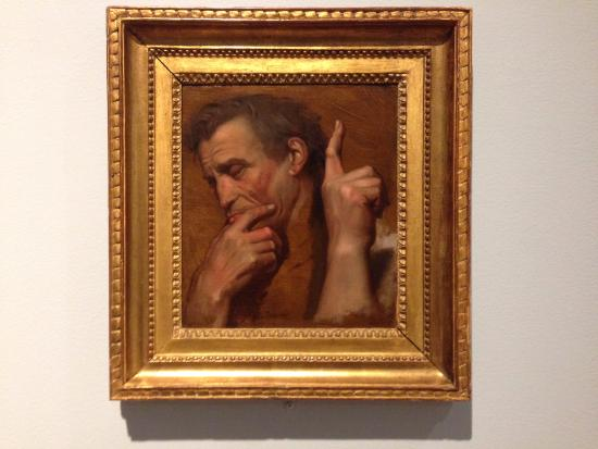 Williams College Museum of Art: The Head and Right Hand of Michelangelo and a Subsidiary Study of the Right Hand of Aristotle: S