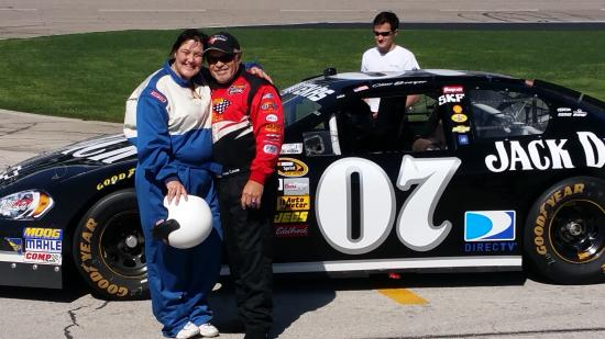 my partner lynn about to take the ride of her life in a nascar rh tripadvisor com