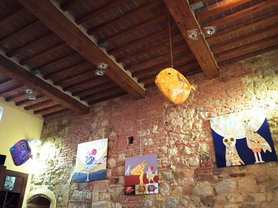 """La Locanda di San Francesco: Locanda's Wine Bar """"E lucevan le stelle""""- Enrico Paolucci Temporay Exhibition"""