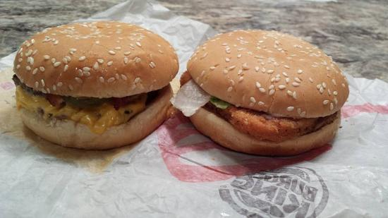 Burger King Double Cheeseburger And Crispy Chicken Jr