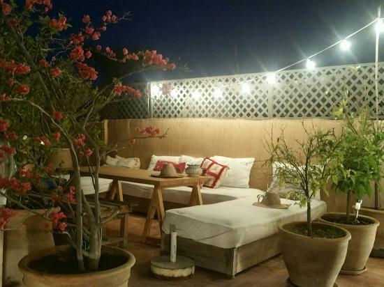 Terrasse by night - Picture of Riad Helen, Marrakech - TripAdvisor