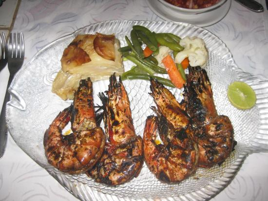 Presa di Goa Country House: Tiger Prawns