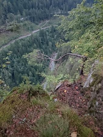 Canton of Graubunden, Sveits: am Abgrund vorbei