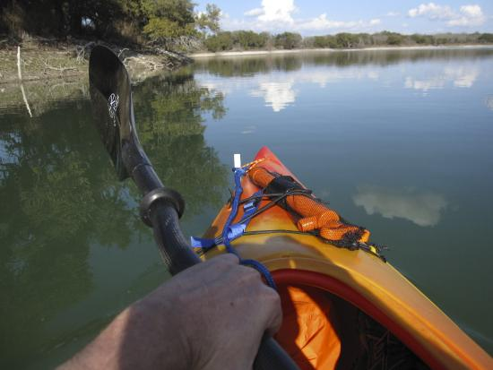 Boerne, TX: Kayaking away from the creek