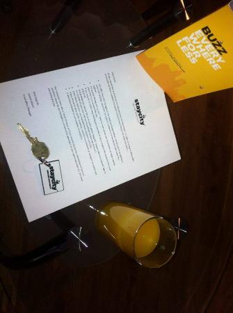 Staycity Serviced Apartments Laystall St: A warm, informative, welcome letter.