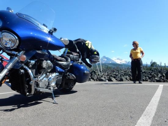 McKenzie Pass-Santiam Pass loop: Look out for motorcycles - Please stay on your side of the road