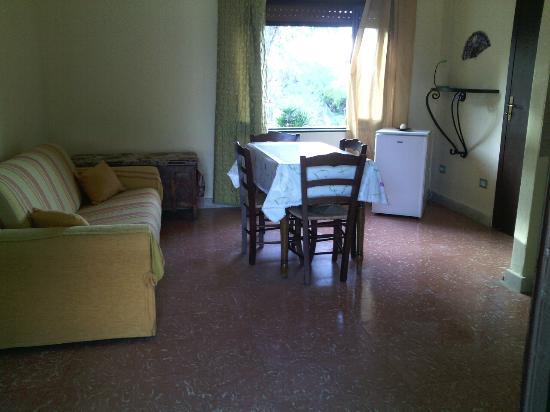 Villa Pia: Zona soggiorno della camera Ventaglio