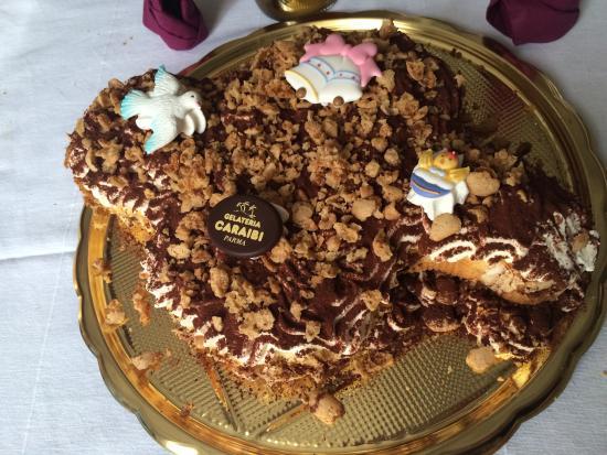 Gelateria Caraibi: Colomba pasquale con crema al mascarpone - ECCEZIONALE!!!