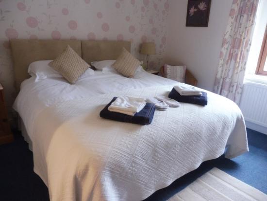Simonsbath, UK: Spacious warm clean room. Big comfy bed.
