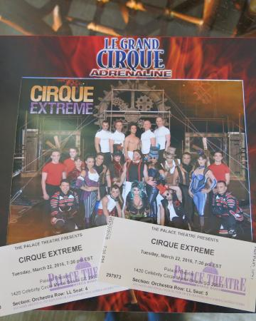 Le Grande Cirque: The Cast and Ticket Stubs