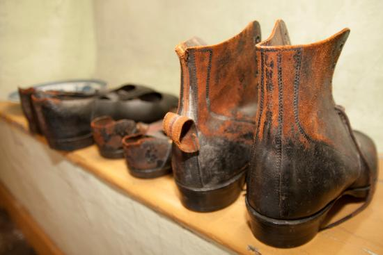 Cottage Museum: Old boots