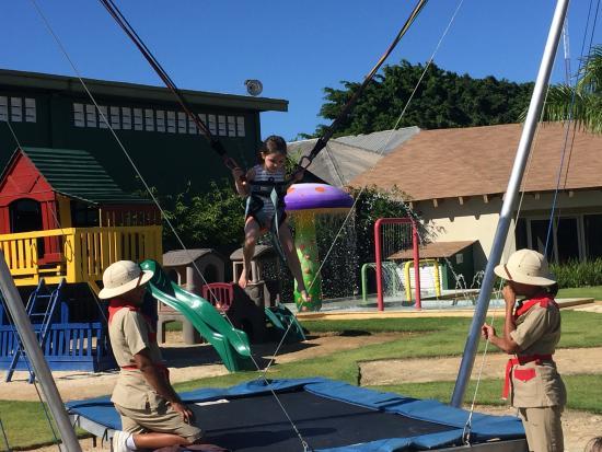 Dreams Palm Beach Punta Cana: Explorer's Club bungee jumping.